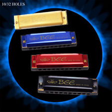 New Bee Harmonica Mouth Organ 10/16 Holes C Key Music Lovers Musical Instrument