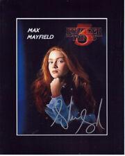 Sadie Sink Autographed 8x10 Photograph Actress Stranger Things COA TTM