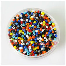 1500 New Charms Solid Color Tiny Seed Round Glass Spacer Beads Mixed 2mm