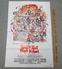 ROCK N ROLL HIGH SCHOOL 1979 27x41 Original Folded One-Sheet Movie Poster yz4705