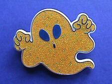BUY1&GET1@50%~Hallmark PIN Halloween GHOST GLITTER w Blue 1980s Vintage Brooch