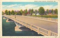 Logansport Indiana~Market Street Bridge~1931 Linen Postcard