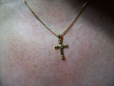 Theo Fennell Tod Diamond 18ct Yellow Gold Cross and 18ct Gold Chain.Classic.