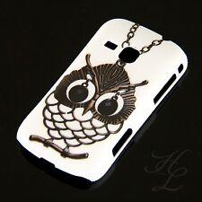 Samsung Galaxy Mini 2 / S6500 Hard Case Handy Hülle Etui Eule Kette Schale Owl