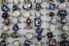 Wholesale mixed lots 60pcs pretty fragmentary shell&resin women's rings Free p&p