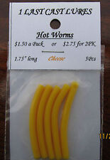 """2-5pcs pack of 1.75"""" hot worms cheese soft plastic jigs 1 Last Cast Lures"""
