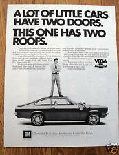1972 Chevrolet Vega Ad Has Two Roofs
