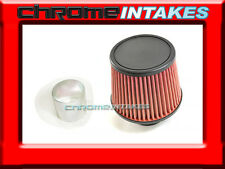 "RED UNIVERSAL 3"" FLAT TOP AIR FILTER FOR SUBARU/SCION AIR INTAKE+PIPE"
