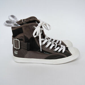 G Star Raw Canvas Mortar Hi Col Castor Camo Sneakers Shoes Size 38 High Tops
