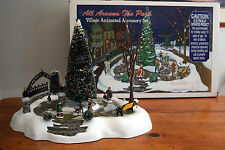 Department 56 ALL AROUND THE PARK Village Animated Accesory Set 52477 Christmas