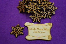 20 x Snowflake A 3cm/30mm Craft Embellishment MDF Laser cut wooden shape