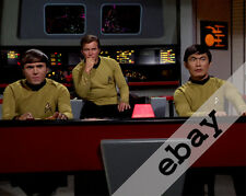 STAR TREK TOS Kirk, Sulu & Chekov on bridge 8X10 PHOTO #2054