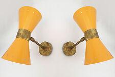 Magnifique paire d'applique 50's Stilnovo Stunning pair of 50's Stilnovo sconces