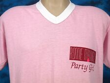 vtg 80s RONNIE MCDOWELL PARTY GIRL CONCERT LONG NIGHT T-Shirt M/L country thin