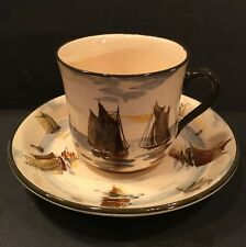 Antique Royal Doulton. Tea cup in the Ships pattern. Old World charm. Rare.