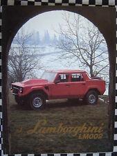 rare brochure LAMBORGHINI LM002 V12 4X4  / couleurs