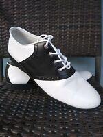 Funtasma  Naught School Girl Lace up shoes Leather Black White 12