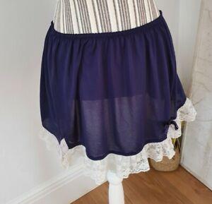 Meadham Kirchhoff For Topshop Navy Ruffle Mini Skirt - Size Medium - Lacy...