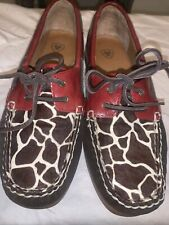 Ariat Giraffe Ruby Palisade slip on Boat Shoes Loafers 10014141 Womens Sz 7.5B