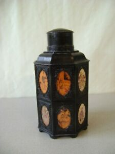 Tea Caddy Chinese Pewter Tea Caddy Vintage Antique Old  RARE LARGE SIZE