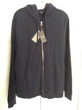 A/X ARMANI EXCHANGE MENS NAVY ZIP FRONT LONG SLEEVE HOODIE SIZE XL