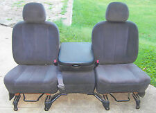 02-08 DODGE RAM 1500 2500 3500 FRONT CLOTH SEATS CENTER CONSOLE JUMP SEAT
