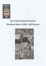 KEN TAYLOR/RONNIE CLAYTON BLACKBURN ROVERS RARE ORIGINAL SIGNED MAGAZINE CUTTING