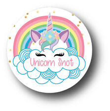 30 Unicorn Snot - Birthday Party Favors Treat Bag Stickers