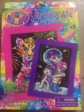 New Lisa Frank Sparkle Art Eskimo and Baby Tiger