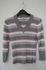 Papaya Acrylic Striped Long Sleeve Women's Jumpers & Cardigans