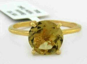 GENUINE 2.14 Cts YELLOW TOPAZ RING 10K GOLD ** Free Certificate Appraisal **