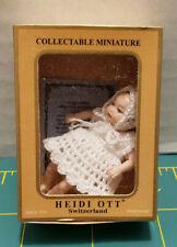 """HEIDI OTT ALL ORIGINAL DRESSED 2"""" BABY GIRL DOLLHOUSE DOLL 1:12 SCALE; 2002 MIB"""