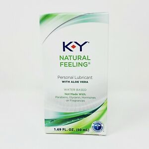K-Y Natural Feeling Personal Lubricant with Aloe Vera, Water Based Exp 1/21