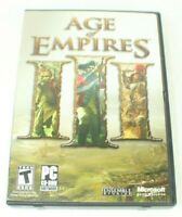 Age Of Empires 3 III PC Strategy Game 3 Disc (2005)  with  Manual