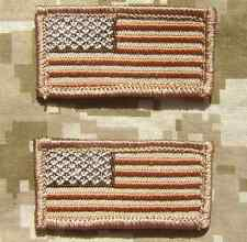 2 MINI USA UNITED STATES FLAGS ISAF HAT CAP DESERT VELCRO® BRAND FASTENER PATCH