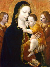 The Virgin and Child with two Angels Ambrogio Bergognone Jesus Maria B A3 00444