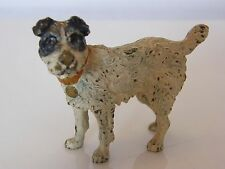 SUPERBLY PAINTED COLD PAINTED BRONZE TERRIER DOG