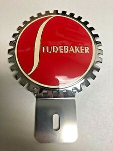 NEW Vintage Studebaker License Plate Topper- Chromed Brass- Great Gift Item!