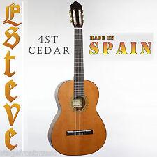 ESTEVE 4ST CLASSICAL GUITAR MADE IN SPAIN SOLID CEDAR GLOSS TOP **BRAND NEW**