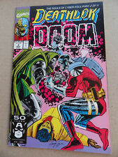 Deathlok 3 . Vs Doom . SIGNED .  Marvel 1991 . VF