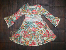 NEW Boutique Girls Floral Bell Sleeve Dress