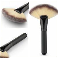 Large Fan Shape Makeup Cosmetic Brush Blending Highlighter Face Powder Tool US