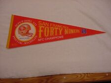 VINTAGE San Francisco 49er's Super Bowl XVI Full Size Pennant, SUPER NICE!!