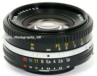NIKKOR 50mm 1:1.8 Nikon Ai-S PANCAKE Mark III SHARP Prime Lens FILM & Digital ft