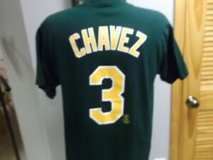 OAKLAND A'S ERIC CHAVEZ JERSEY T-SHIRT LARGE MAJESTIC