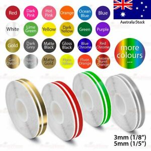 """9/16"""" Vinyl Pinstriping PinStripe Car DIY Styling Double Tape Decal Sticker 15mm"""