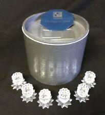 Swarovski Crystal Pin Candle Holders Set of Six In Original Box 7600 Nr 131