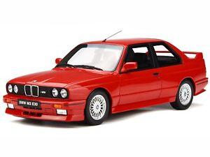 BMW e30 M3 1989 brillant red 908 diecast modelcar OT695 Otto 1:18