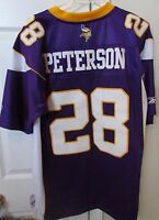 NFL Minnesota Vikings Adrian Peterson #28 Replica Jersey Adult Med by Reebok EUC