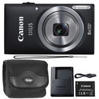 Canon IXUS 185 / ELPH 180 20MP Digital Camera Black and Camera Case